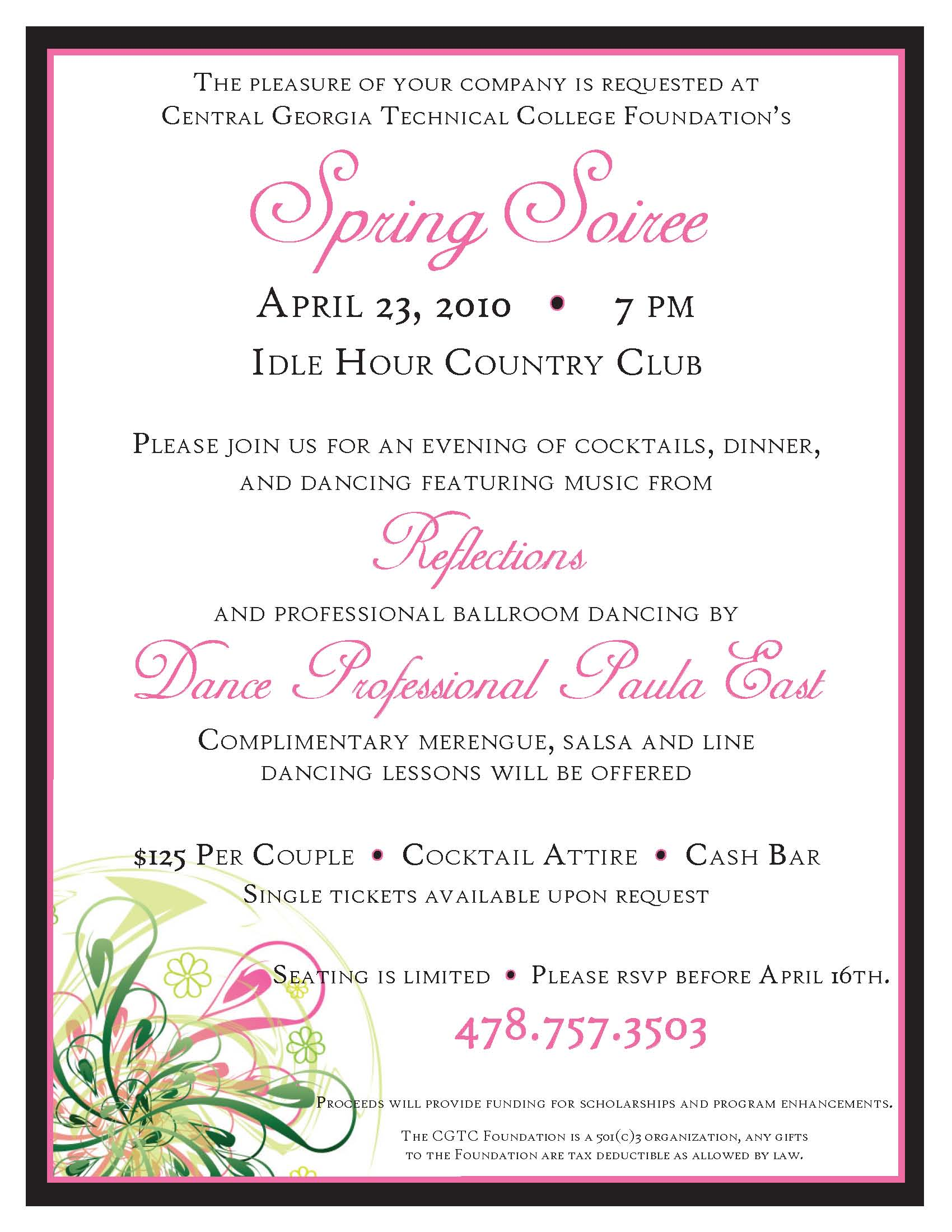 Spring Soiree Flyer