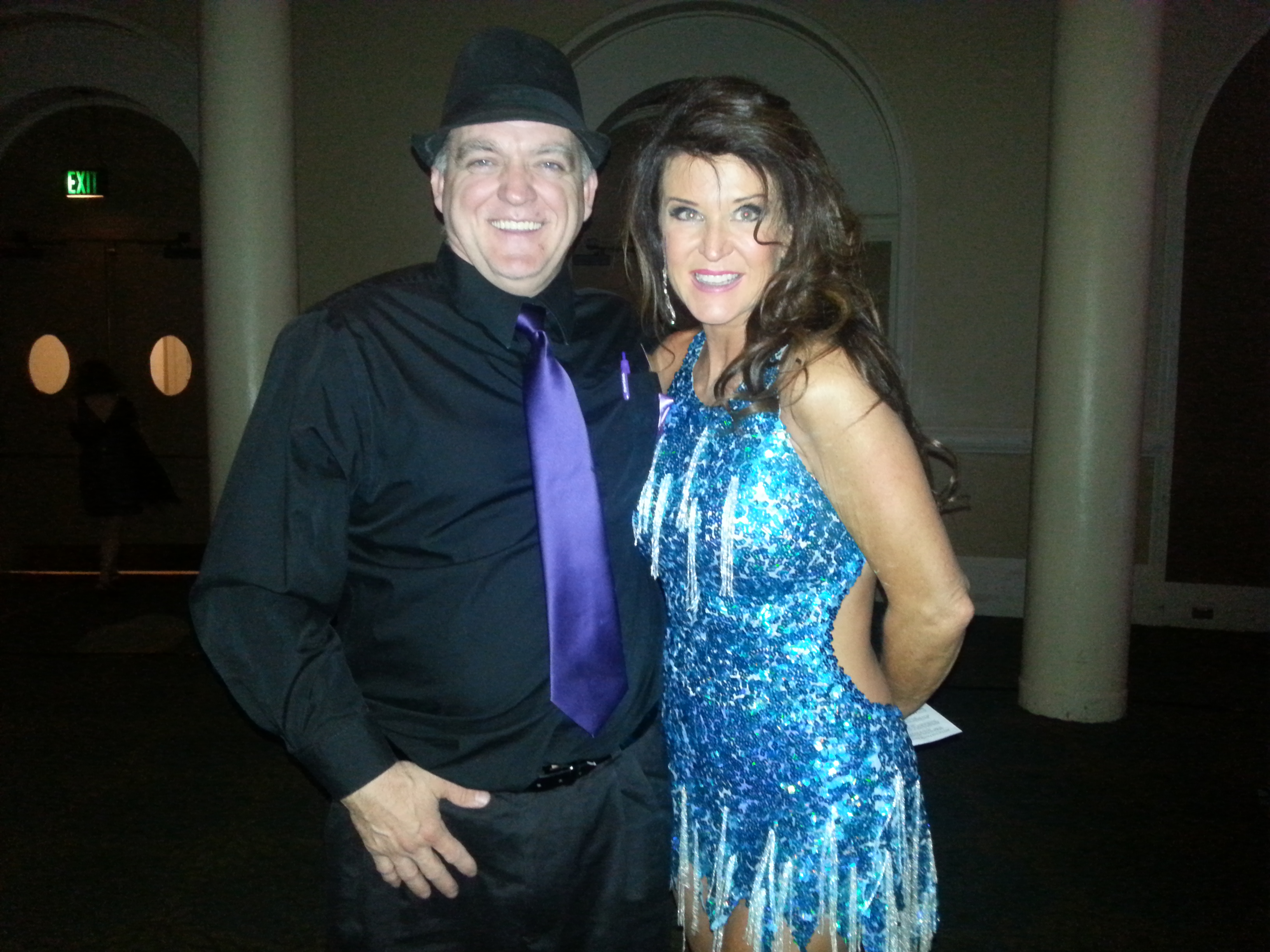 Daniel with Virginia Shaheen, 2013 Judges' Choice winner