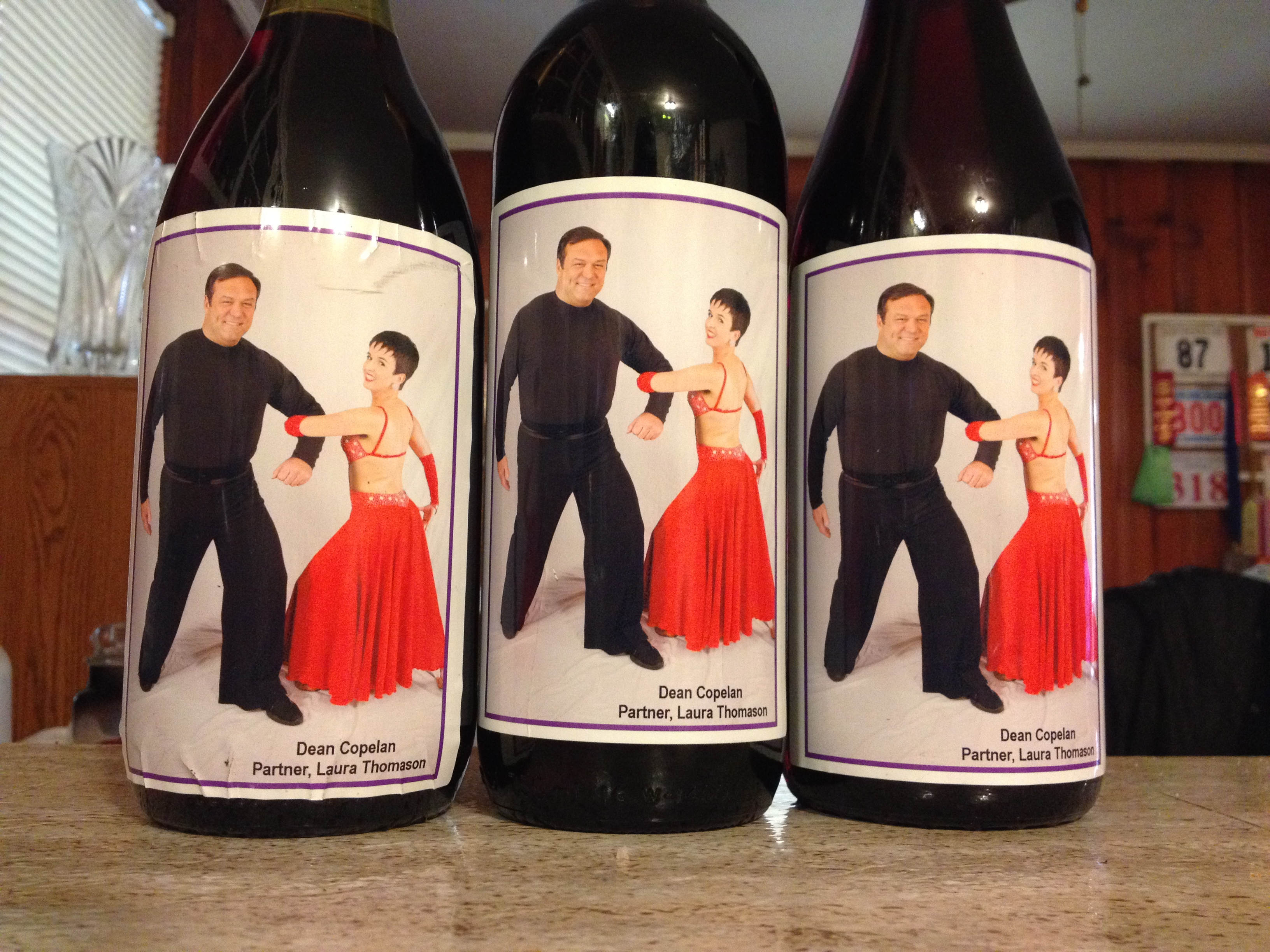Wine bottles of fame!